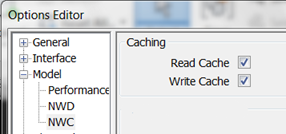 Read write cache navisworks