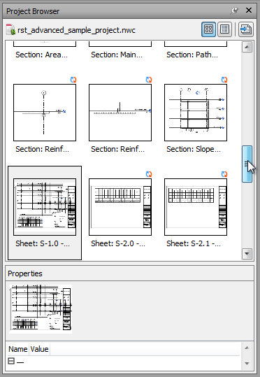 Navisworks Project Browser - Multi-Sheet Files