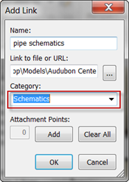 Add link dialog navisworks