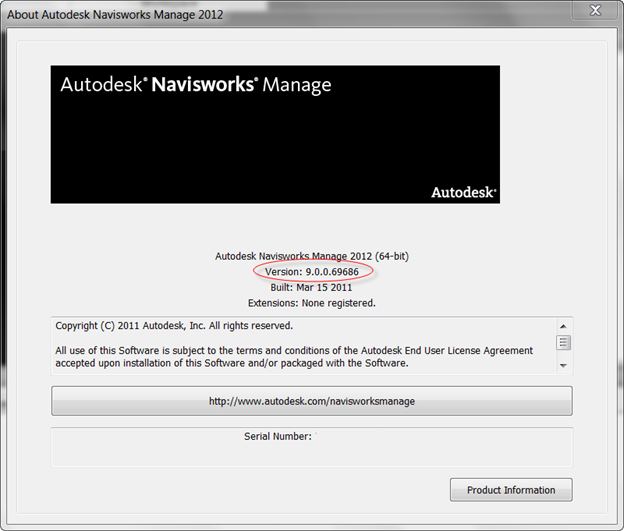 Navisworks version number
