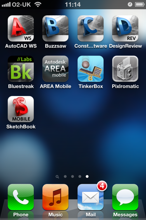 Autodesk iPhone apps