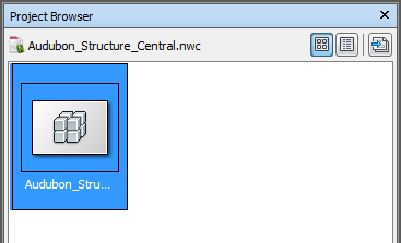 Open file in the Navisworks Project Browser