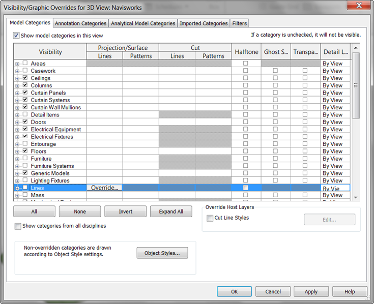 View Settings Revit 2012