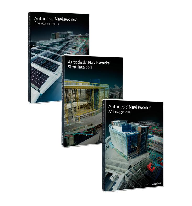 Autodesk Navisworks 2013 products Manage Simulate Freedom