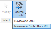Navisworks Revit exporters switchback external tools 2013