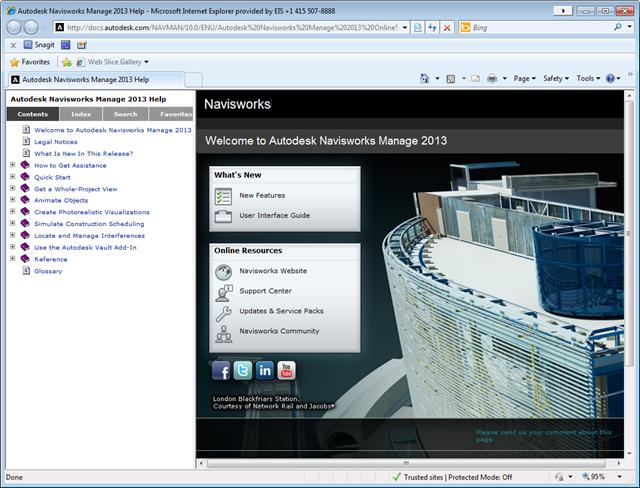 Navisworks online help