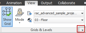 Navisworks Revit grids levels 2013 options