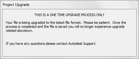 Revit file upgrade