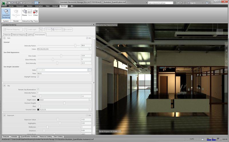 Autodesk rendering navisworks 2014