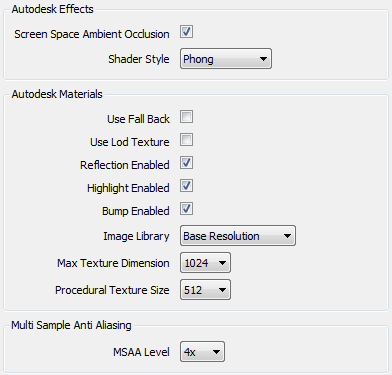 autodesk navisworks effects msaa settings