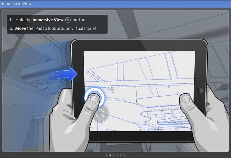 Immersive view ipad BIM 360 Glue mobile app Autodesk