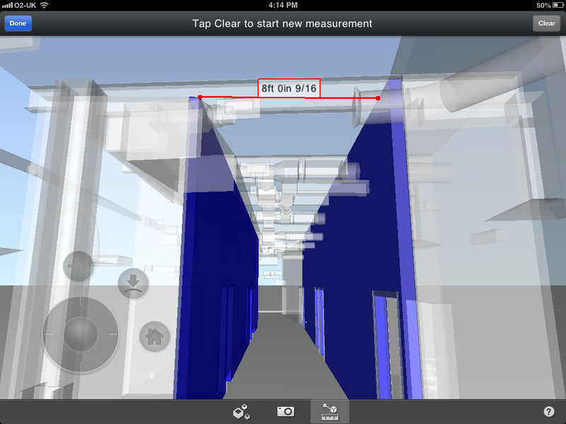 BIM 360 Glue mobile app - Measure shortest distance