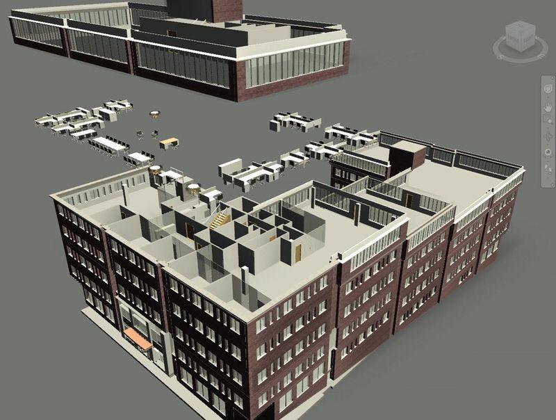 Autodesk Navisworks 2014 displaced exploded views revit synergy house sheffield