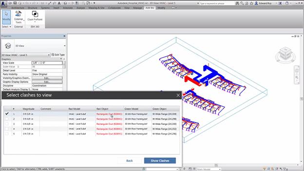 Autodesk BIM 360 Glue clash reports directly inside Autodesk Revit