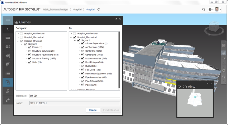 Autodesk BIM 360 Glue clash analysis definition