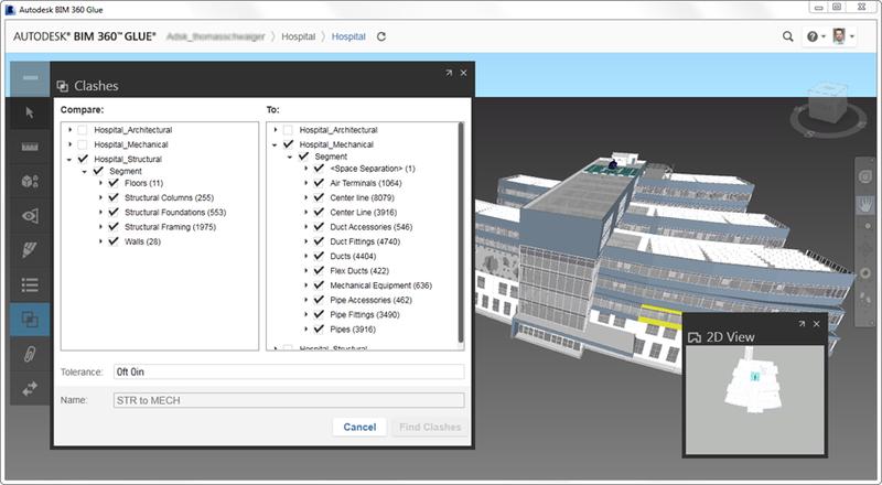 Autodesk BIM 360 Glue clash analysis definition